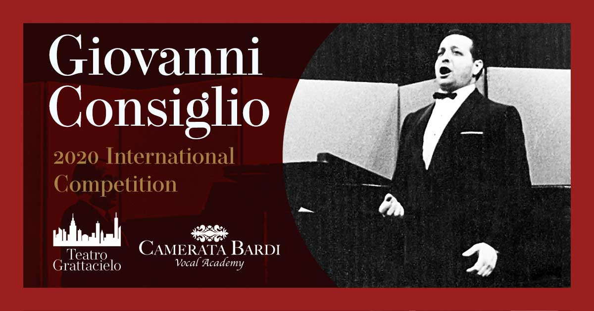 The 2020 Giovanni Consiglio International Competition Winners