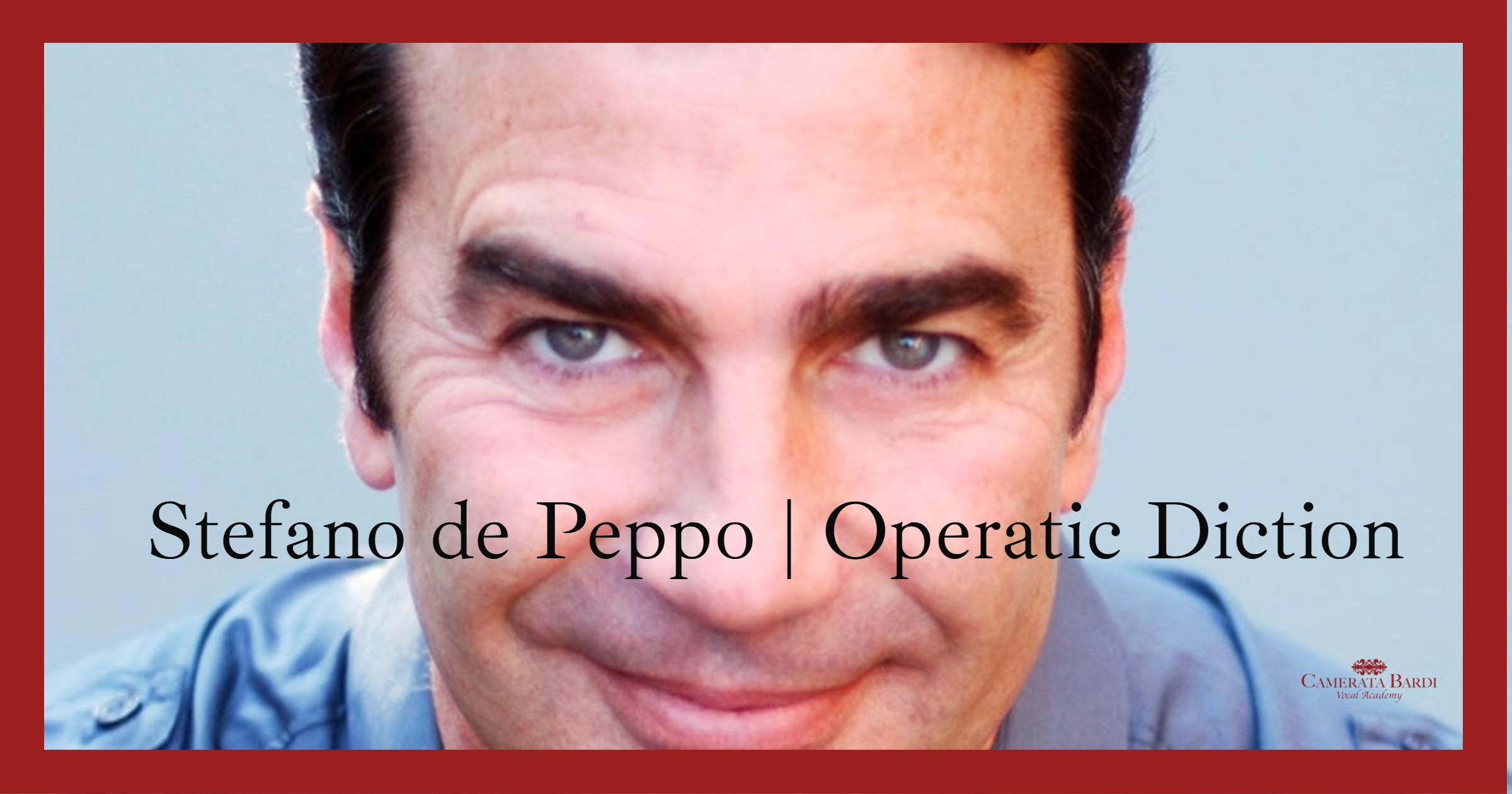 Bass-Baritone Stefano de Peppo