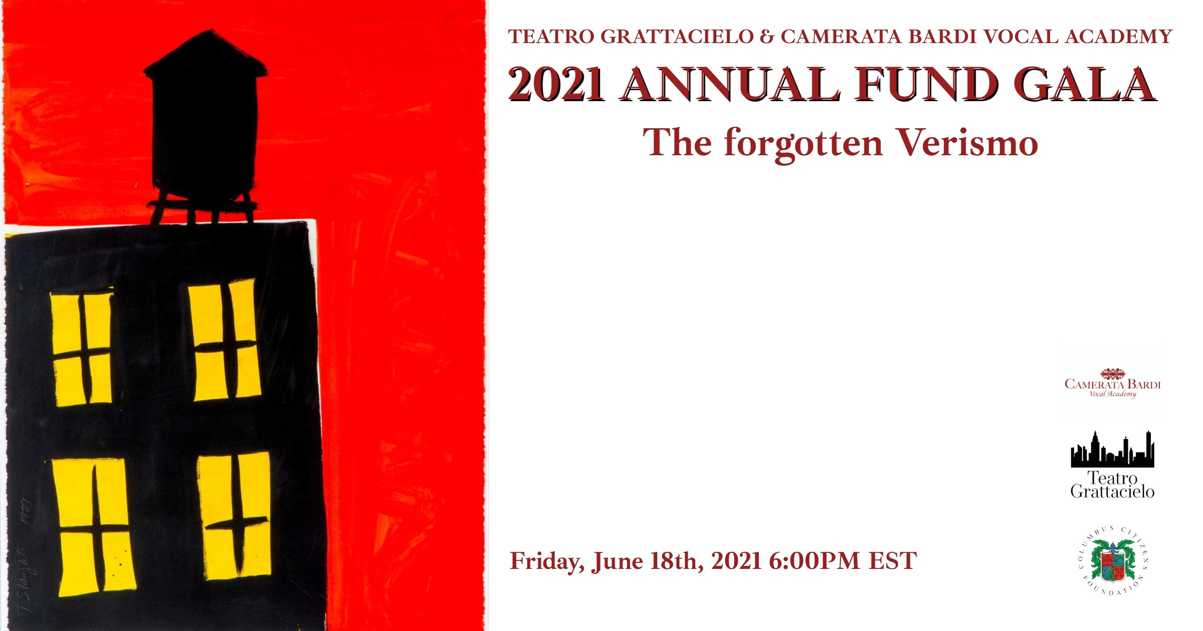 2021 ANNUAL FUND GALA | THE FORGOTTEN VERISMO at the COLUMBUS CITIZENS FOUNDATION