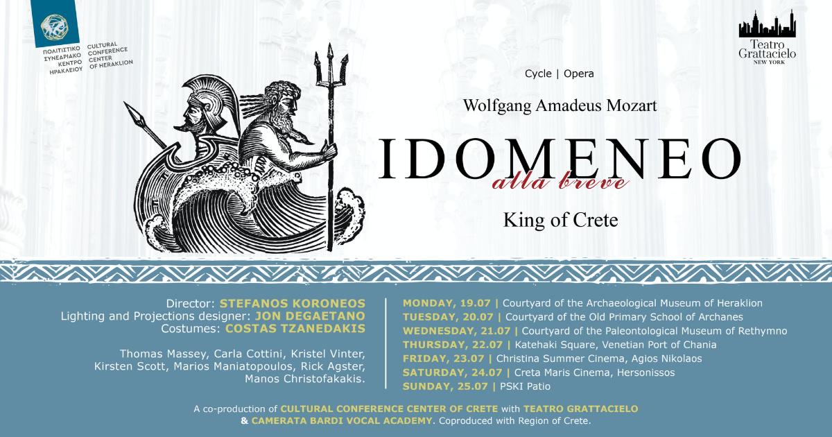 IDOMENEO ALLA BREVE in co-production with Cultural Conference Center of Crete and Teatro Grattacielo